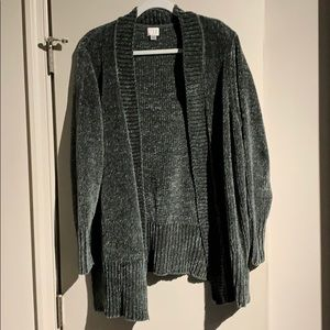 A New Day Super Soft Chenille Open Cardigan